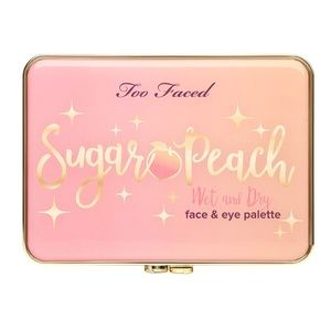 Rare New Too Faced Sugar Peach Wet and Dry palette